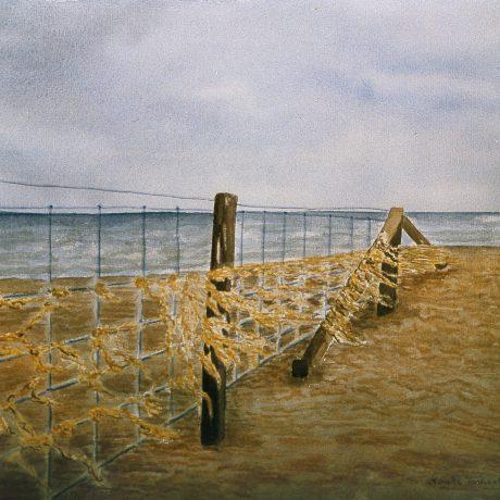 Monika_Tschach-01-Aquarell-Wasser-50x60-Strand_an_der_Ostsee